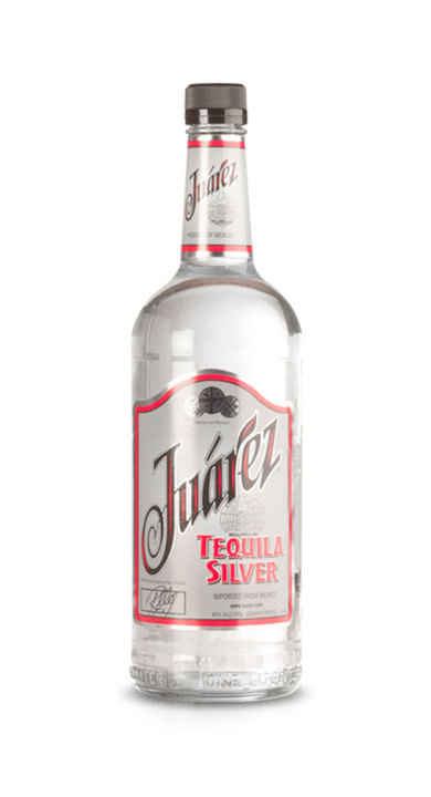 Bottle of Juarez Tequila Silver