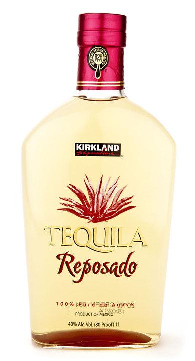 Bottle of Kirkland Signature Reposado