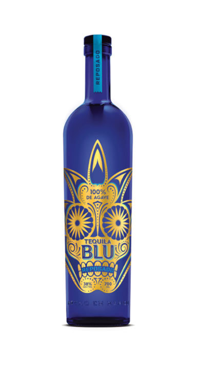 Bottle of Tequila Blu Reposado