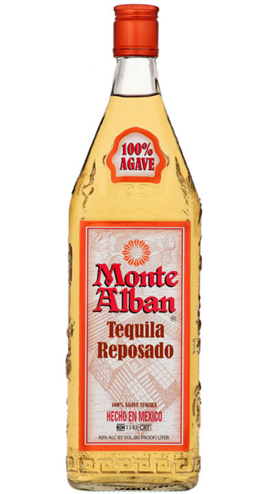 Bottle of Monte Alban Tequila Reposado