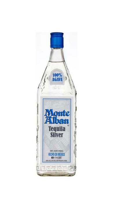 Bottle of Monte Alban Tequila Silver