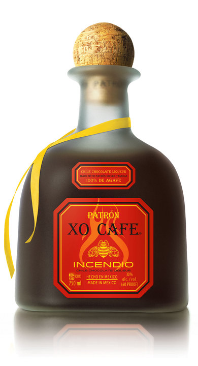 Bottle of Patrón XO Cafe Incendio