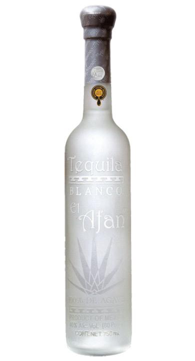 Bottle of El Afan Tequila Blanco