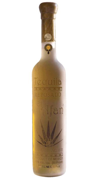 Bottle of El Afan Tequila Reposado
