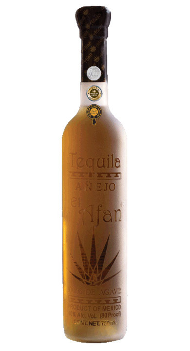 Bottle of El Afan Tequila Añejo