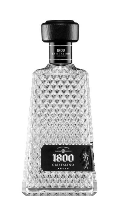 Bottle of 1800 Cristalino Añejo