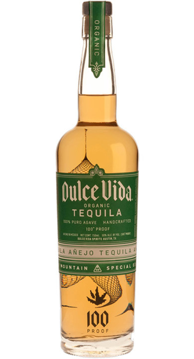 Bottle of Dulce Vida Tequila Añejo - Rocky Mountain Edition