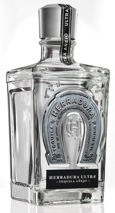 Bottle of Herradura Ultra Tequila Añejo