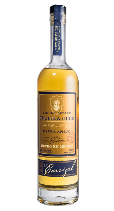 Bottle of Ocho Tequila Extra Anejo - El Carrizal 2008