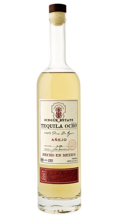 Bottle of Ocho Tequila Añejo - El Vergel 2007