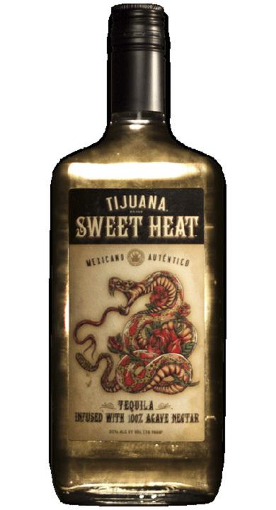 Bottle of Tijuana Sweet Heat Tequila