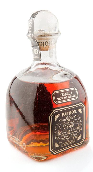 Bottle of Patrón Extra Añejo 7 Años