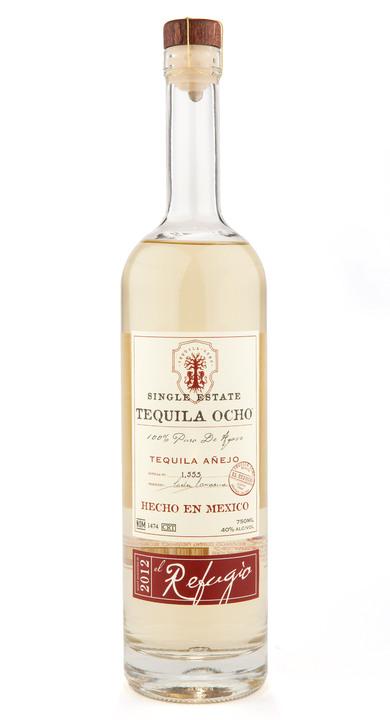 Bottle of Ocho Tequila Añejo - El Refugio 2012