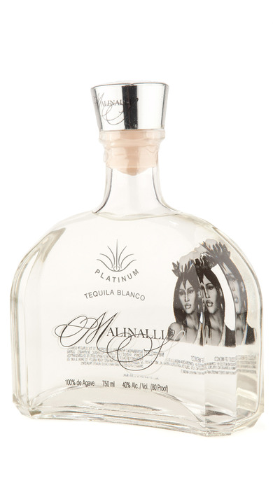 Bottle of Malinalli Platinum Tequila