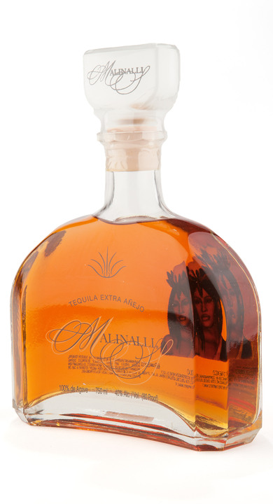 Bottle of Malinalli Extra Añejo Tequila