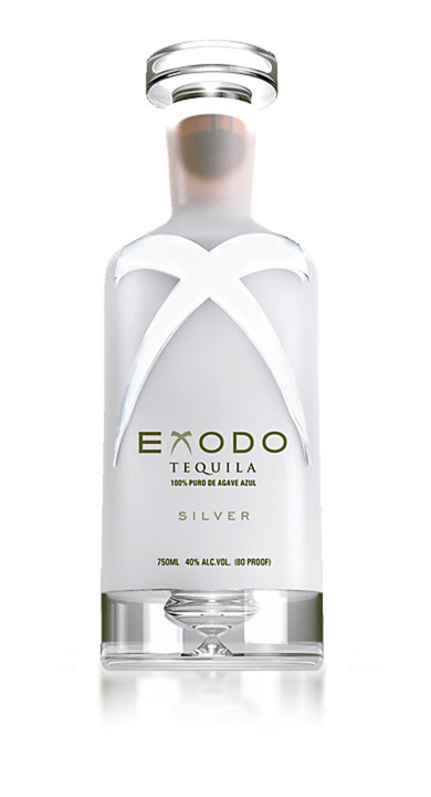Bottle of Exodo Tequila Silver