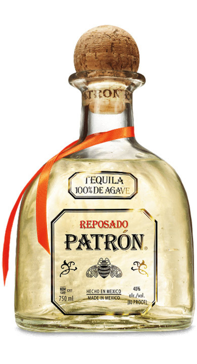 Bottle of Patrón Reposado