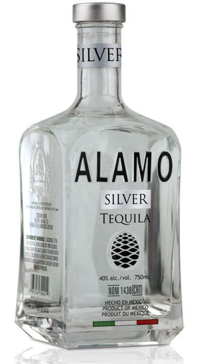 Bottle of Alamo Silver Tequila