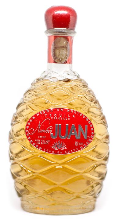 Bottle of Number Juan Reposado