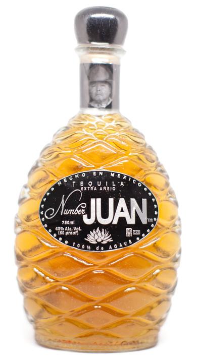 Bottle of Number Juan Extra Añejo