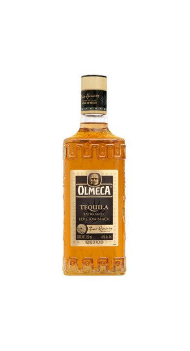 Bottle of Olmeca Extra Aged Edicion Black