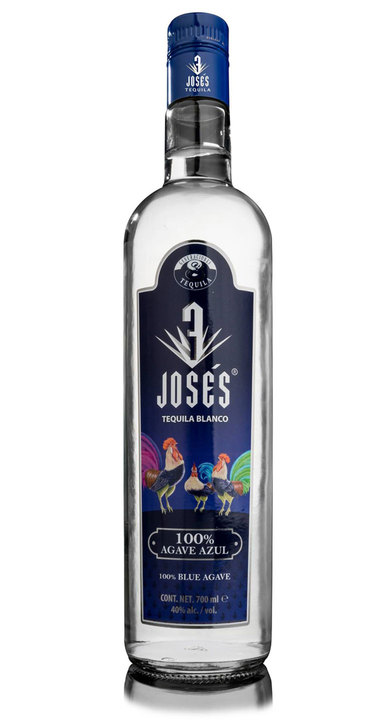 Bottle of 3 Josés Tequila Blanco
