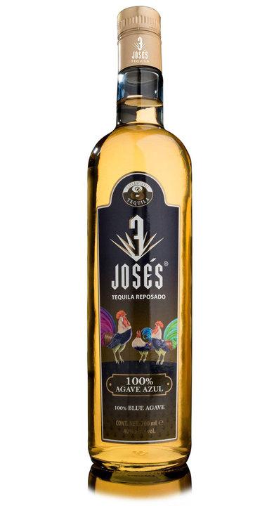 Bottle of 3 Josés Tequila Reposado