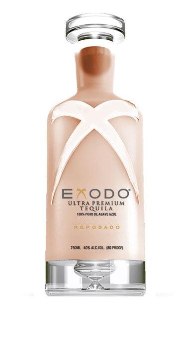 Bottle of Exodo Tequila Reposado