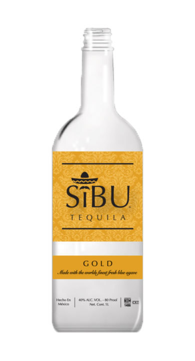 Bottle of SiBU Tequila Gold