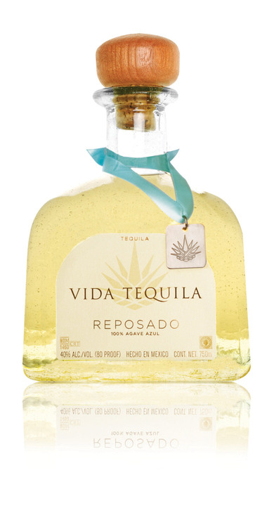 Bottle of Vida Tequila Reposado