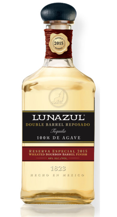 Bottle of Lunazul Double Barrel Reposado 2015