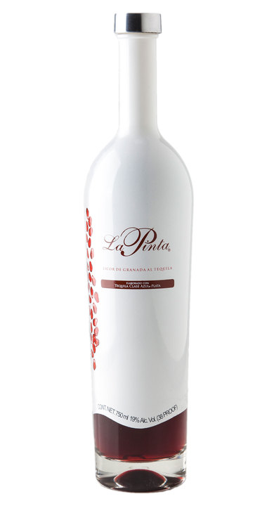 Bottle of La Pinta Pomegranate Infused Tequila