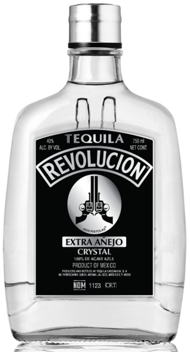 Bottle of Revolucion Crystal Extra Añejo
