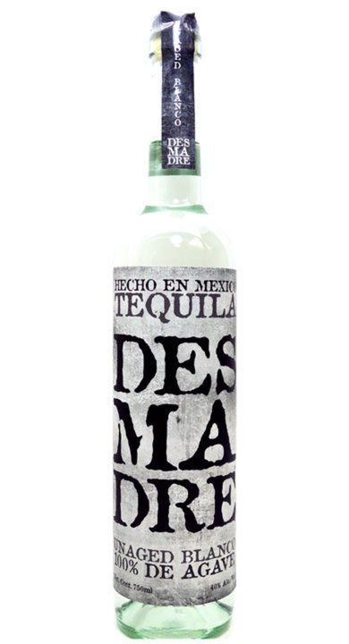 Bottle of Desmadre Blanco Tequila
