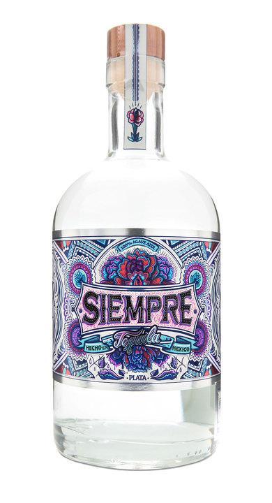 Bottle of Siempre Tequila Plata