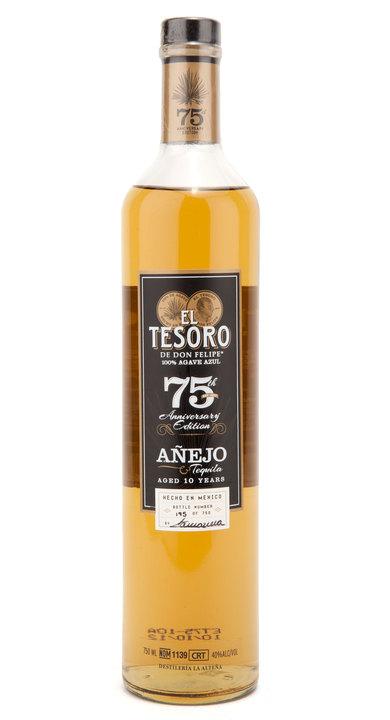 Bottle of El Tesoro de Don Felipe 75th Anniv