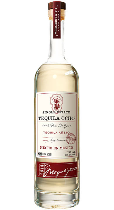 Bottle of Ocho Tequila Añejo - La Magueyera 2014