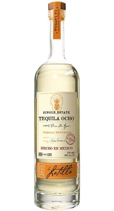 Bottle of Ocho Tequila Reposado - La Latilla 2015