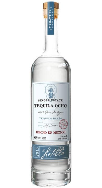 Bottle of Ocho Tequila Plata - La Latilla 2015