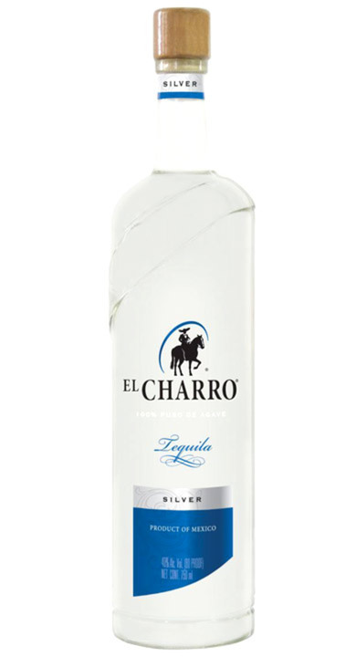 Bottle of El Charro Silver 100% Agave