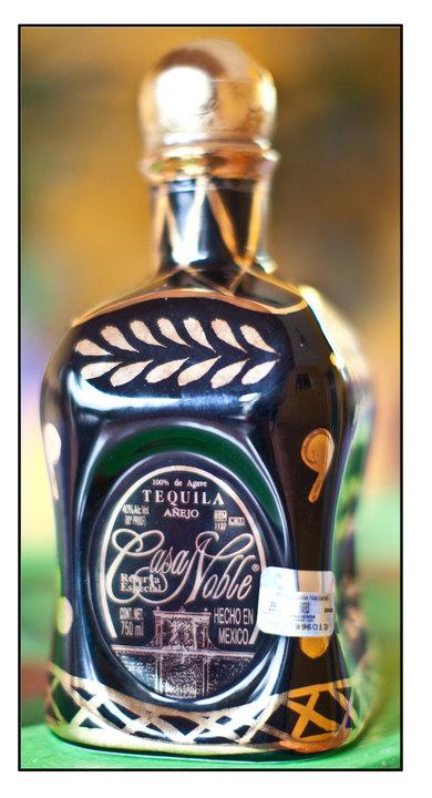 Bottle of Casa Noble 5 yr. Añejo (Basket Weave)