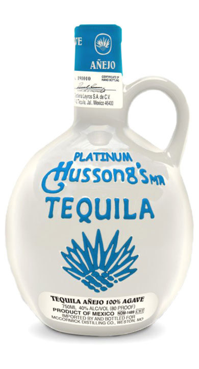Bottle of Hussong Platinum Añejo