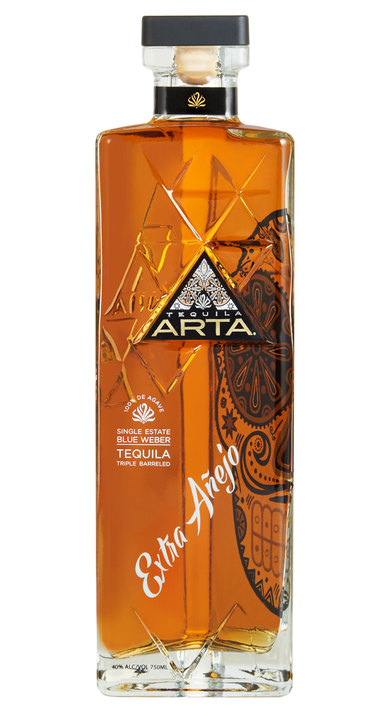 Bottle of Arta Tequila Extra Añejo