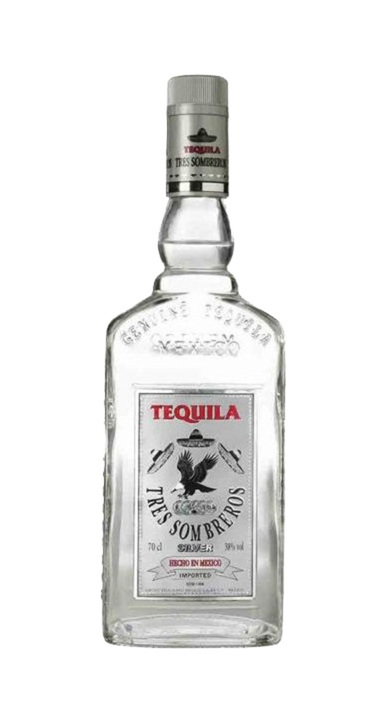 Bottle of Tres Sombreros Silver