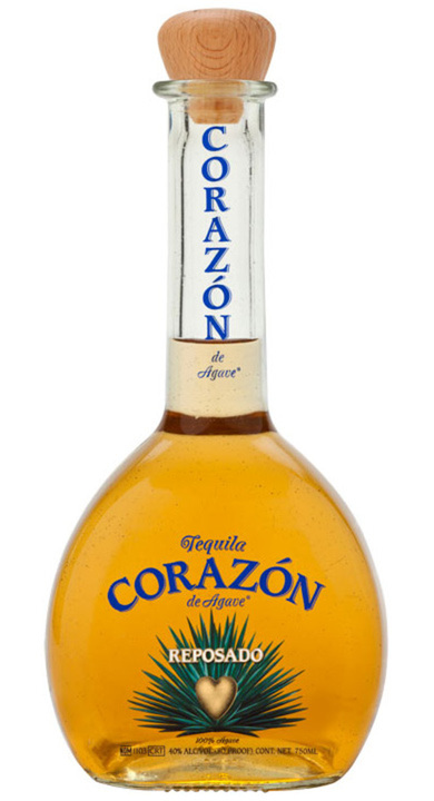 Bottle of Corazon Reposado Tequila