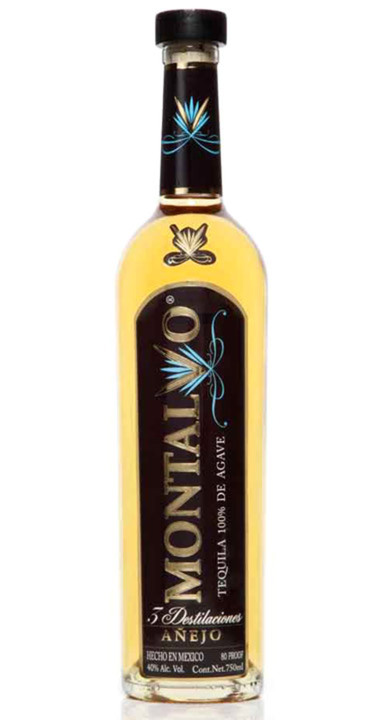 Bottle of Montalvo Tequila Añejo