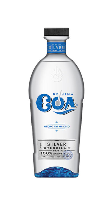 Bottle of COA de Jima Tequila Silver