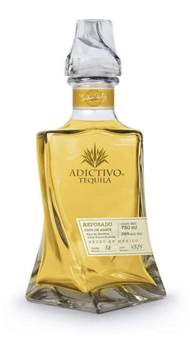 Bottle of Adictivo Tequila Reposado