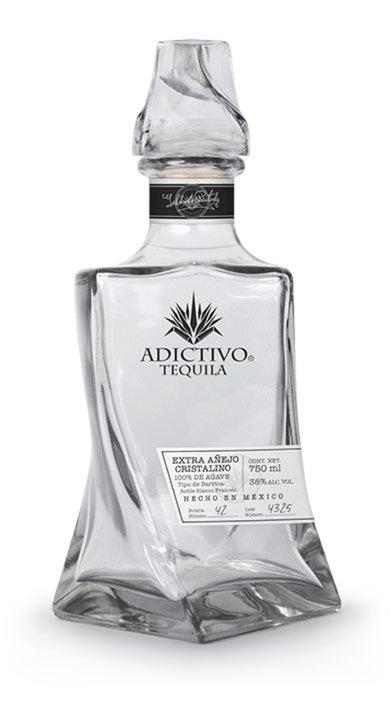Bottle of Adictivo Tequila Extra Añejo Cristalino