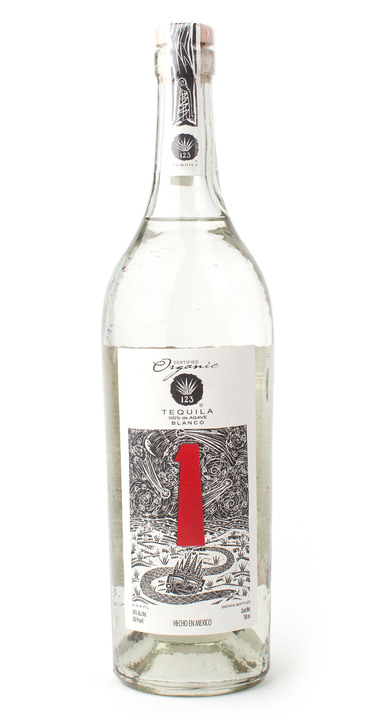 Bottle of 123 Organic Tequila Blanco